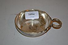 Early 20th Century silver tasse de vin inset with a George II florin