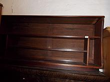 Mahogany low bookcase with open shelves (reconstructed)