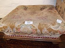 Victorian square footstool and three small wall mirrors