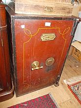 19th Century Onward of Birmingham red painted safe
