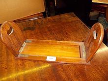 Victorian walnut gilt brass mounted adjustable book rack