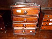 Late 19th Century oak four drawer table cabinet