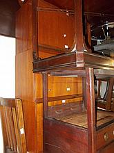 1960's Swedish suspended teak desk and wall unit with shelves