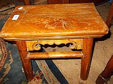Small Chinese elm footstool