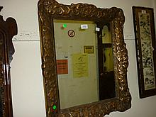 19th Century rectangular gilt moulded framed mirror