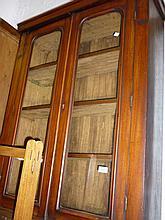 Victorian mahogany bookcase top