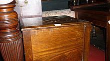 19th Century mahogany box commode on turned supports
