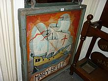 Large 19th Century painted wooden pub sign ' Mary Bell '