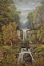 Early 20th Century oil on canvas, view at Glen