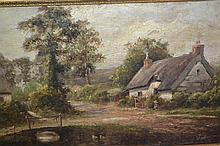 A. Knight, signed 19th Century oil on canvas,