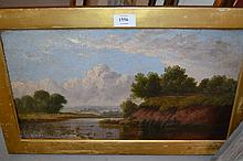 James B. Cook R.S.A., signed oil on canvas, river