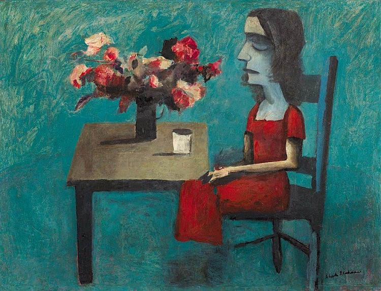 CHARLES BLACKMAN born 1928 Barbara at the Table