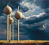 PETER SMETS born 1962 Water Tower II oil on canvas