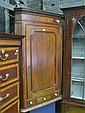 George III Mahogany Corner Cabinet with a Door, 1 Drawer & 2 Faux Drawers