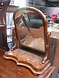 Victorian Cedar Toilet Mirror with Arched Top
