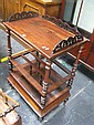 Victorian Rosewood Canterbury Whatnot on Turned Supported & Fitted with a Drawer