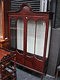 Edwardian Mahogany Display Cabinet with 2 Astragal Doors