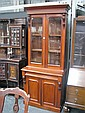 Cedar Bookcase with 2 Glass & 2 Timber Panel Doors, & Drawer