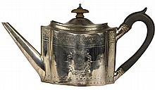 English Hallmarked Sterling Silver George III Teapot
