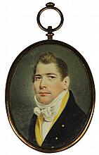 Victorian Ivory Miniature Portrait of Gent
