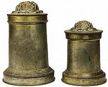Victorian Pewter Graduated Pair of Jelly Moulds