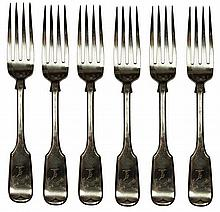 English Hallmarked Sterling Silver Victorian Main Forks