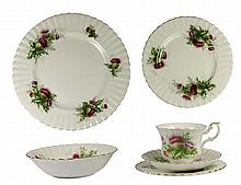 Royal Albert 'Highland Thistle' Tea & Dinner Service for Six Persons