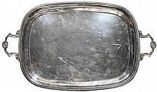 English Hallmarked Sterling Silver Tray