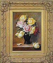 Jos Kivits (1945 - ) - Vase of Roses 39 x 28cm