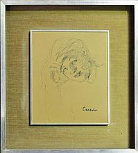Judy Cassab (1920 -) - Female Portrait 27.5 x 22.5cm
