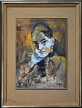 Judy Cassab (1920 -) - Self Portrait 37.5 x 27cm