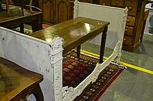19th Century French Cast Iron Bed Painted White