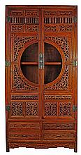 UNUSUAL CHINESE HUANGHUALI 'MOON GATE' CABINET