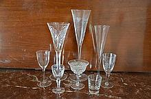 Shelf Lot, Assorted Glassware including Waterford -