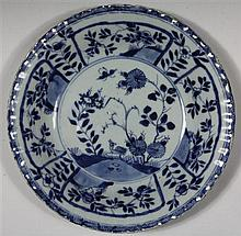 CHINESE BLUE AND WHITE 'FLOWERS' DISH, KANGXI PERIOD (1654-1722)