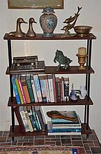 Three Tier Book Shelf with Contents including Novels, Ginger Jar etc -