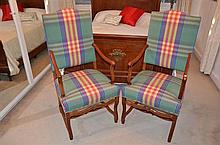 Pair of Very Well Upholstered Continental Style Armchairs -