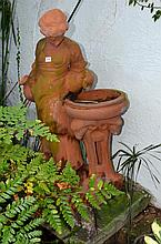 Terracotta Fountain depicting a Water Maiden -