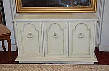 White Painted Timber 3 Door Cupboard -