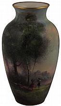 Royal Worcester George H. Evans Hand Painted Vase