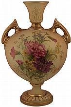 Royal Worcester Two Handled Vase