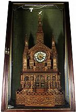 Sly & Co Barnstaple Fretwork Cathedral Clock