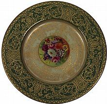 Royal Worcester Harry Davis Cabinet Plate