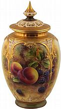 Royal Worcester Lidded Potpourri P.D Love