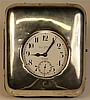 English Hallmarked Sterling Silver Cased Eight Day Clock