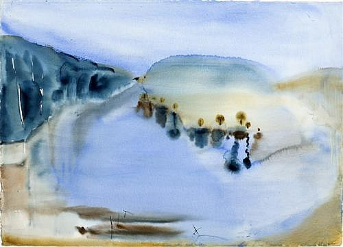 G. W. BOT (born 1954) - Shoalhaven Rise, Arthur Boyd Estate 1997 watercolour on paper