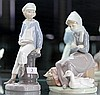 2 Lladro Figures, Girl with Geese and Boy with Boat