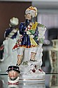 Staffordshire Figure and Royal Doulton Miniature 'Beefeater' Character Mug
