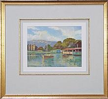 Australian School (XX) - House Boats At The Spit 22.5 x 29cm