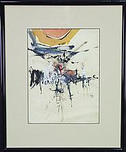 Thomas (Tom) Gleghorn (1925 -) - Abstract 35 x 26cm